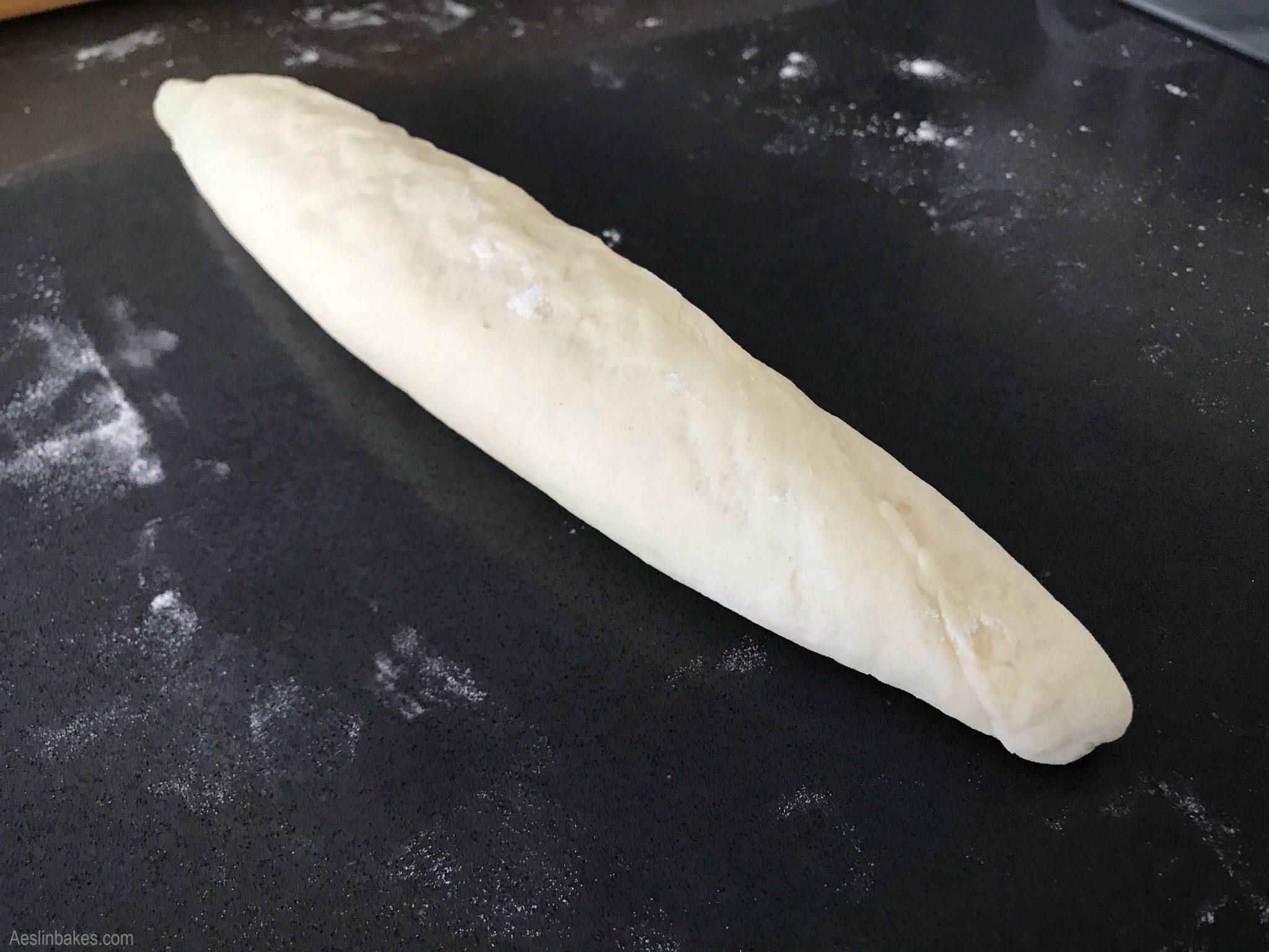 Shaping hoagie rolls 4