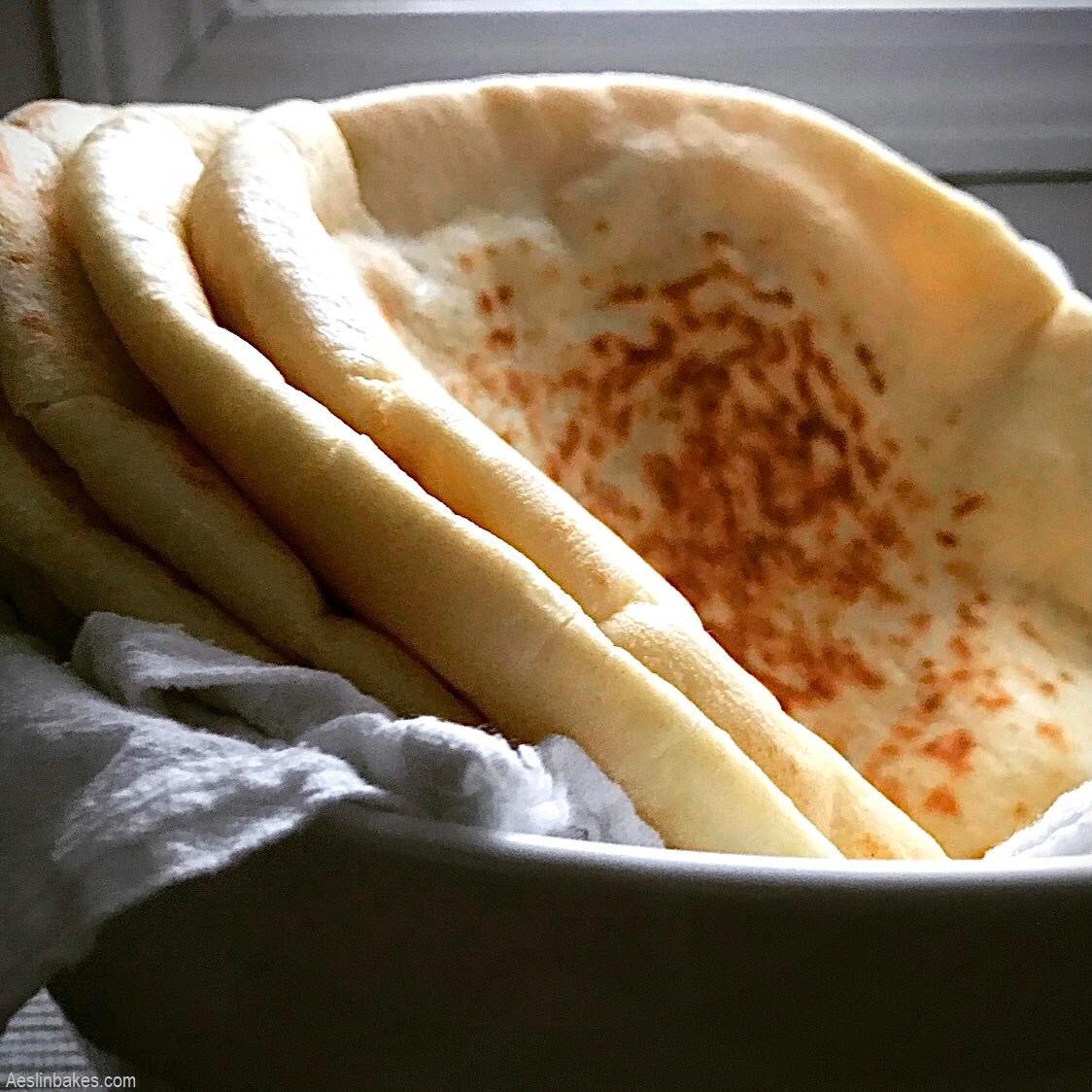 bowl of pita bread sq