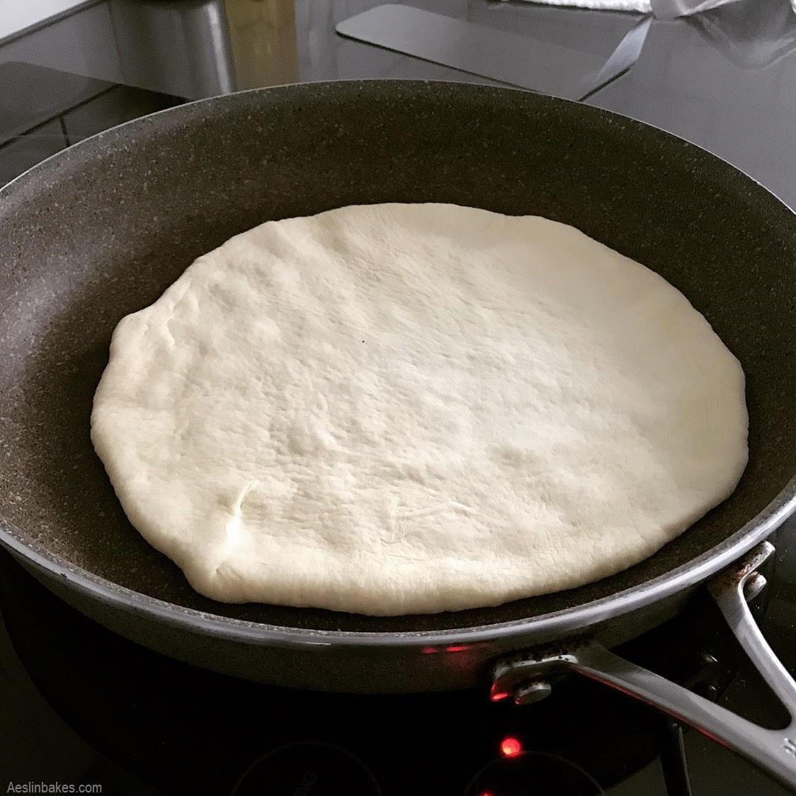 cooking pita bread 1