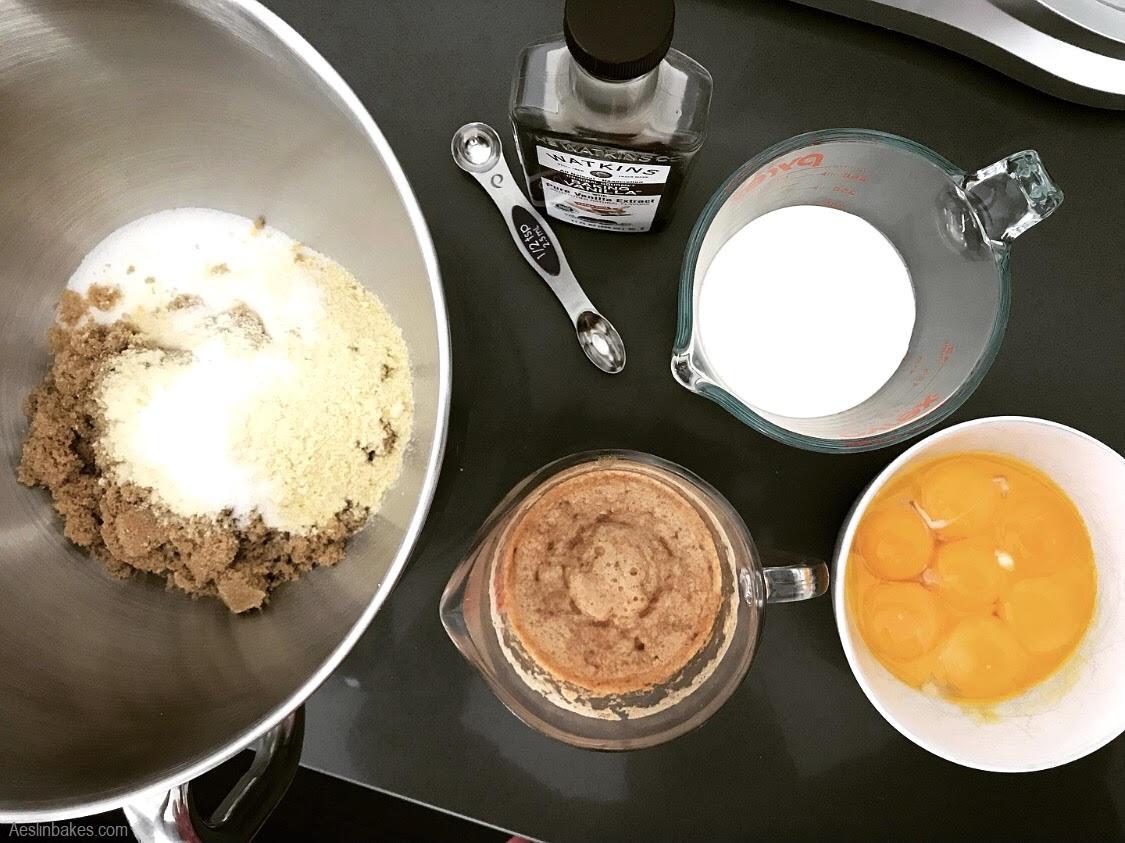 Brown Butter Crack Pie ingredients
