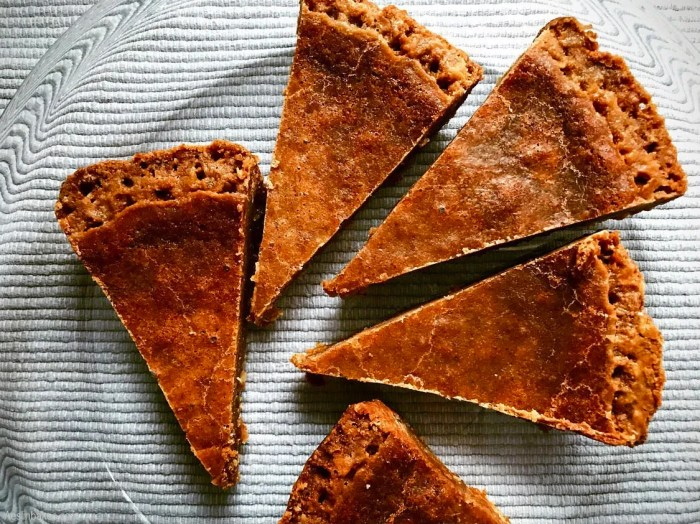Clean slices of Brown Butter Crack Pie