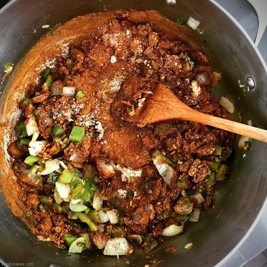 cook the chili spices until warm and fragrant