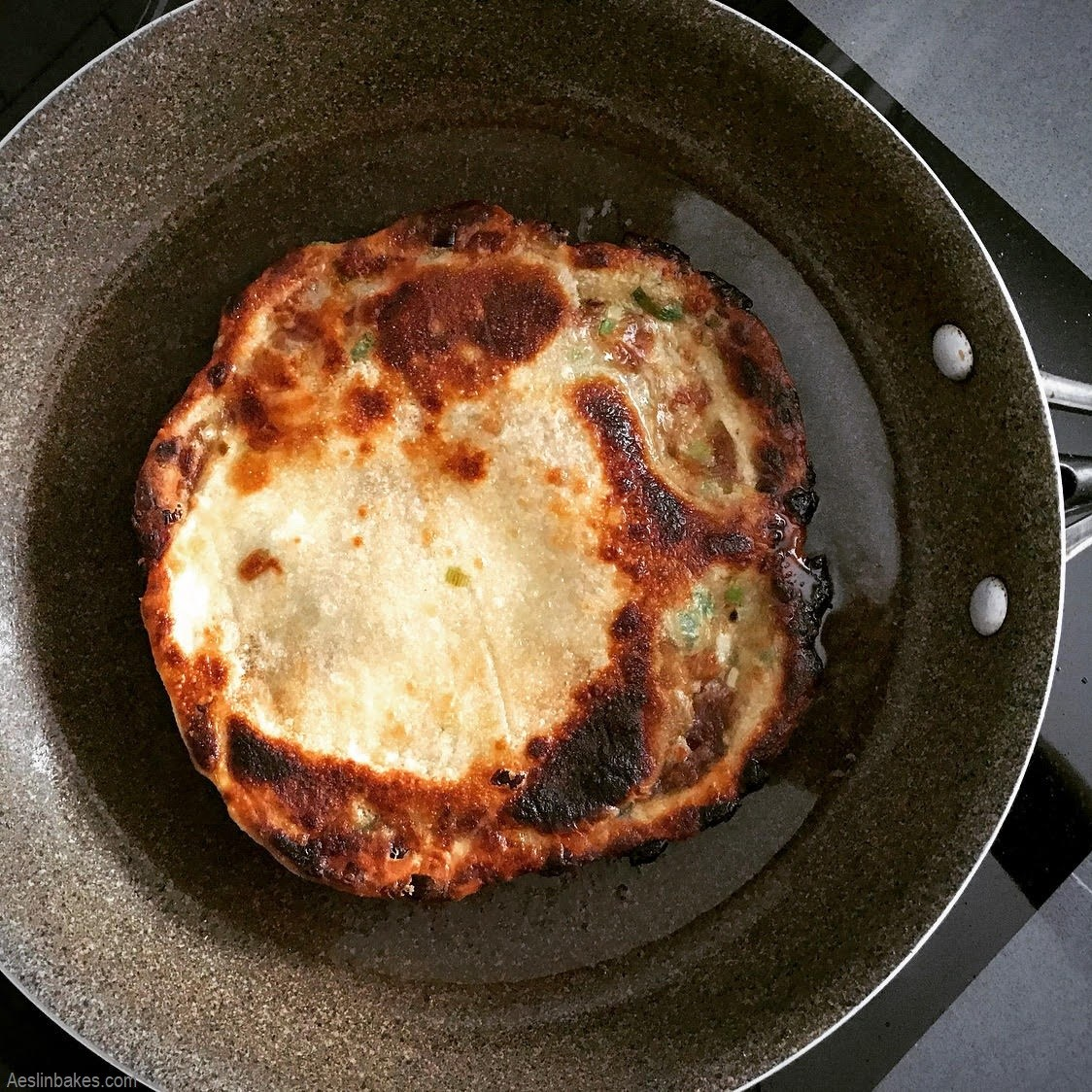 flipped scallion pancake