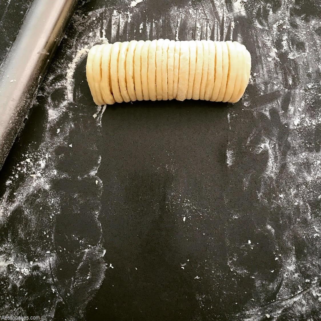 brioche wool roll loaf segment rolled up