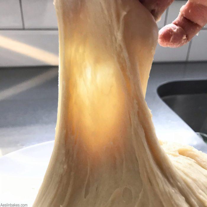 Soft dough windowpane test