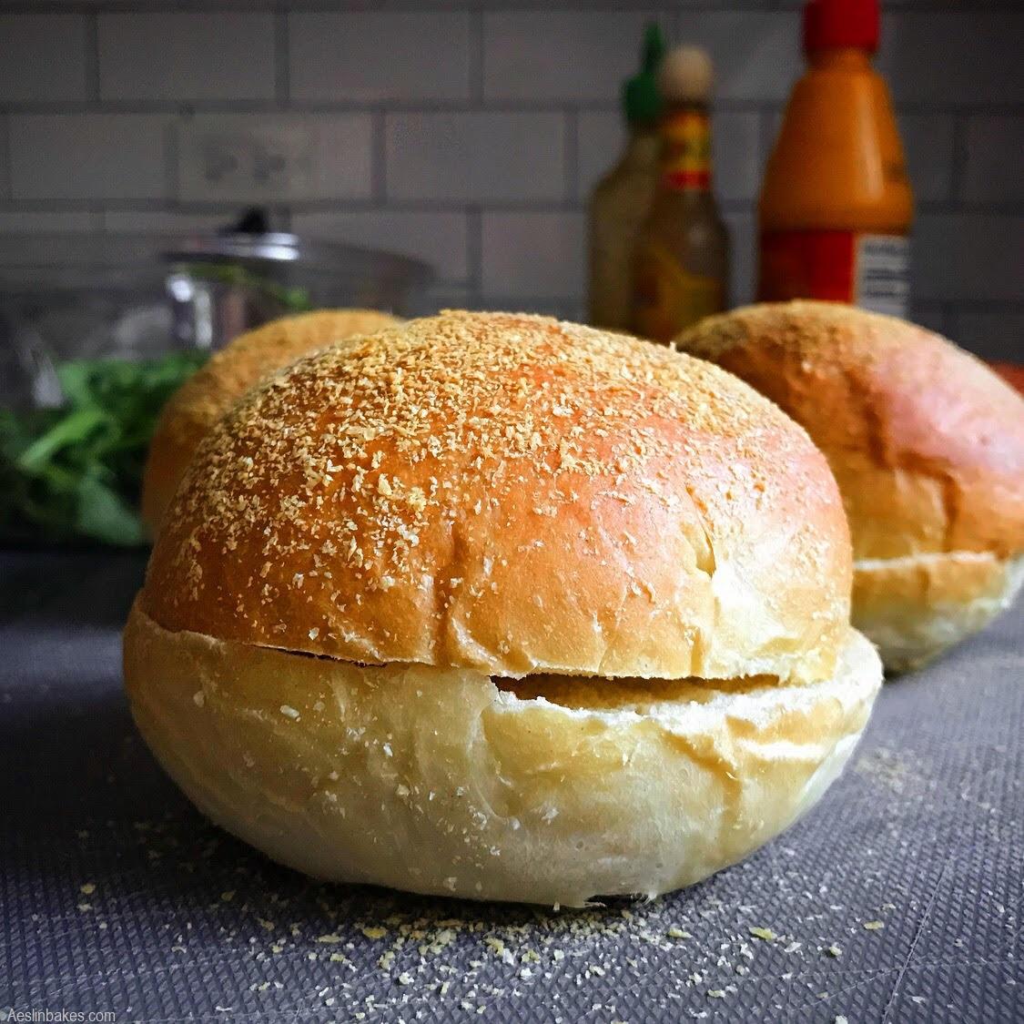 hamburger buns split