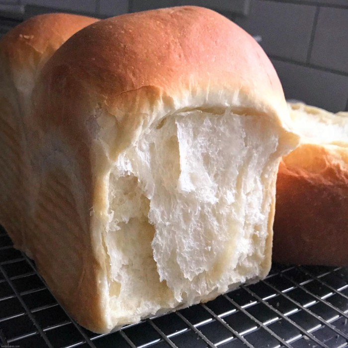 soft sandwich milk bread baked without a lid
