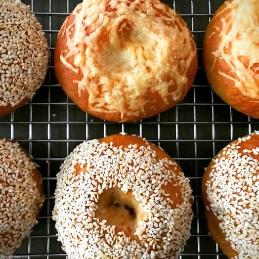 bagels on cooling rack