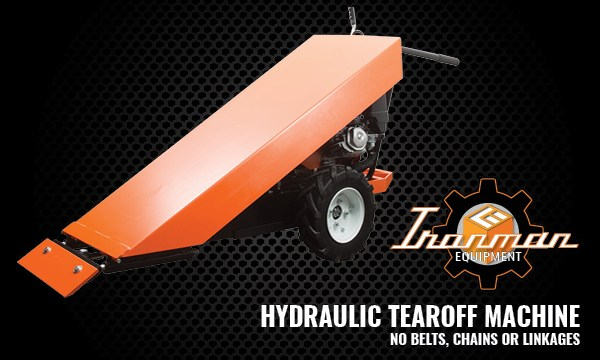Introducing the IRONMAN Hydraulic Tearoff Machine