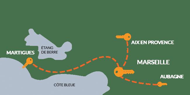 Zone intervention AES Serrurerie Marseille Aix en Provence Aubagne