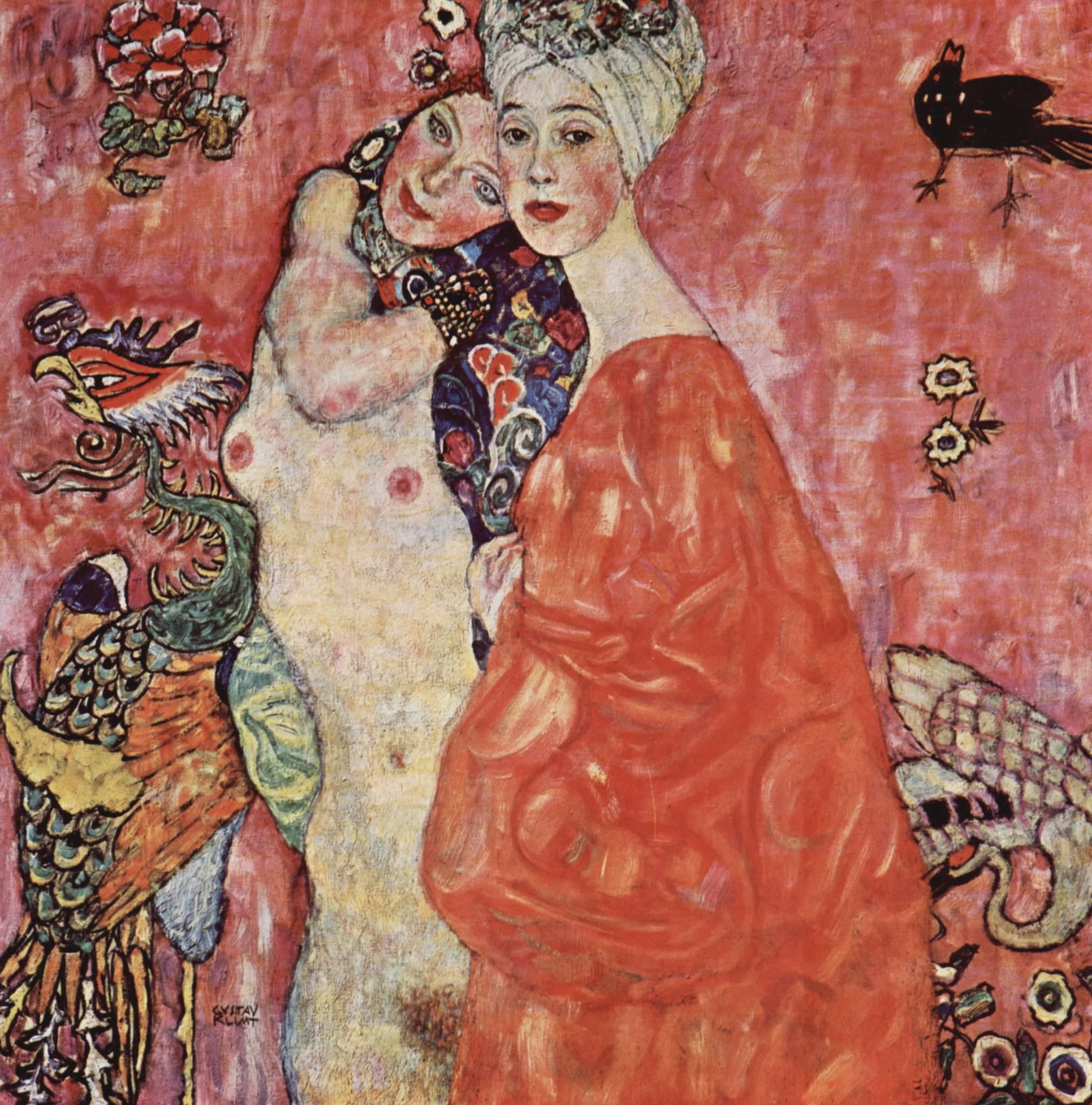 """""""Die Freundinnen zerstort"""" (1916-17) de Gustav Klimt"""