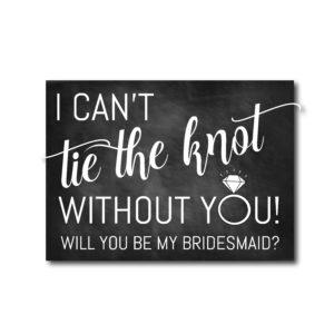 Chalkboard Bridesmaid Ask Card