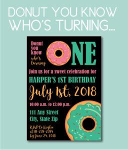 Fun Donut Themed Invite