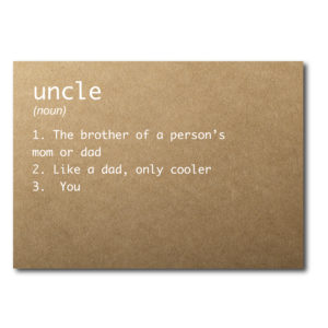 Rustic Card for the New Uncle
