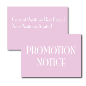 Promotion Notice Card for Best Friend
