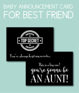 Best Friend Baby Card