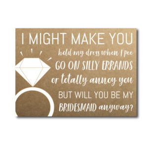 Bridesmaid Ask Card Funny