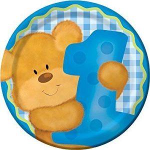 First Birthday Bear Plates