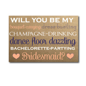 Will You Be My Bridesmaid Card