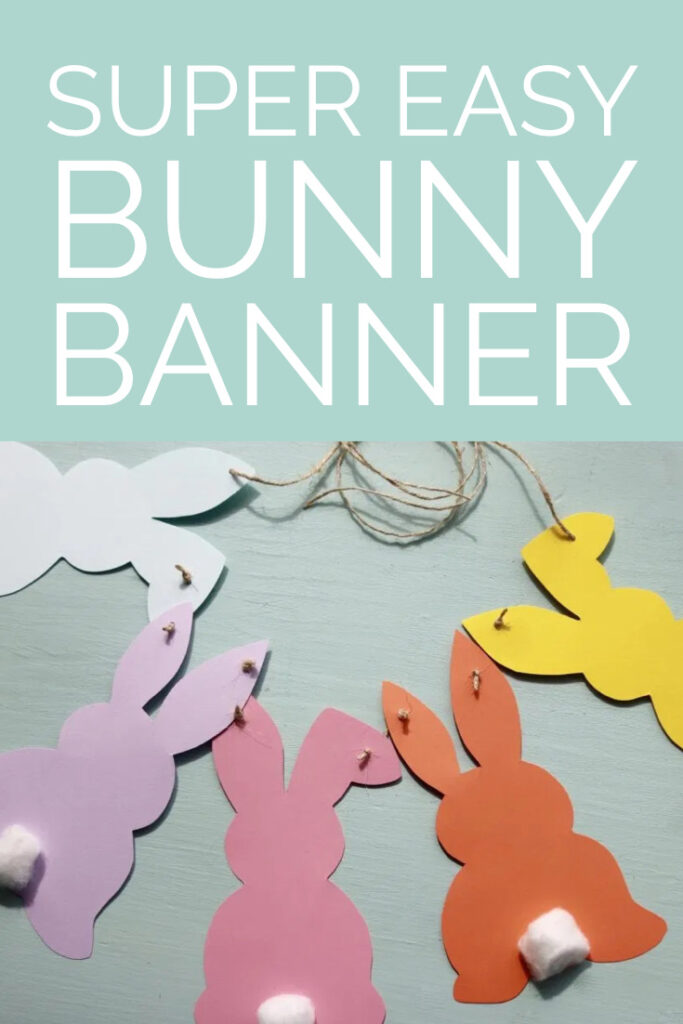 Easy bunny banner easter crafts
