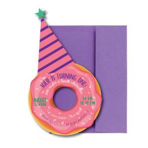 Donut Shaped Birthday Party Invite