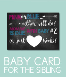 Mommy's Due with Baby Number Two Announcement Card
