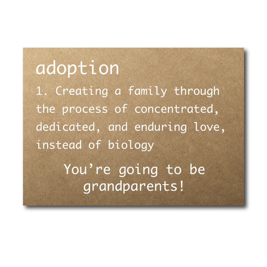 Adoption Announcement Card for Grandparents