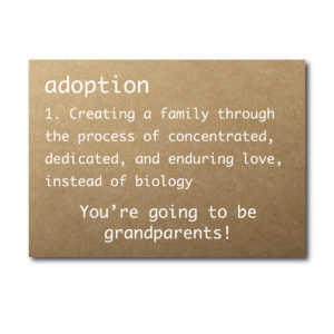 Adoption Announcement Card for Grandparents