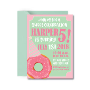 Old-Fashioned Donut Party Invite
