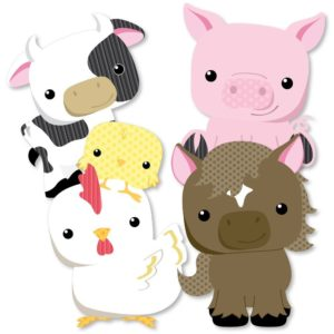 Party Cut-Outs of Farm Animals