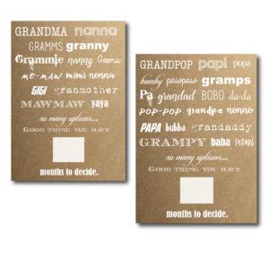 Grandma and Grandpa Cards