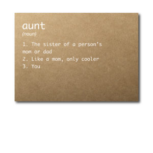 Rustic Card for the New Aunt