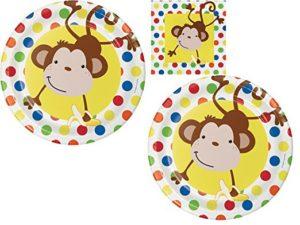 Monkey themed plates