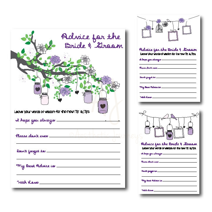 Advice for the Bride and Groom Shower Game