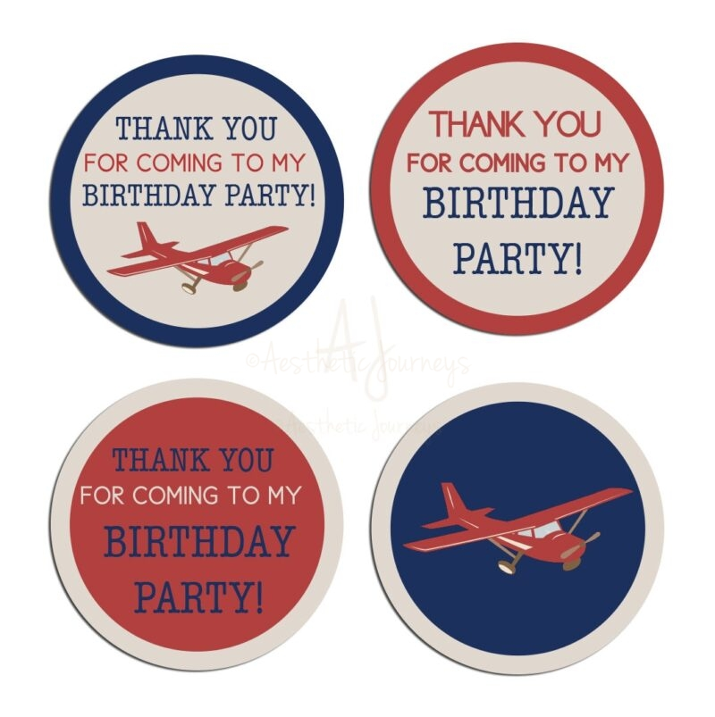 airplane themed stickers