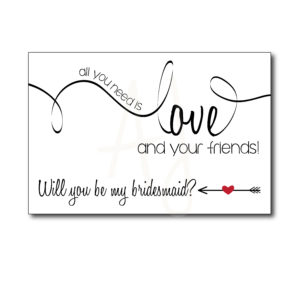 Classic Bridesmaid Card for Friends