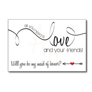 Classic Maid of Honor Card for Friends