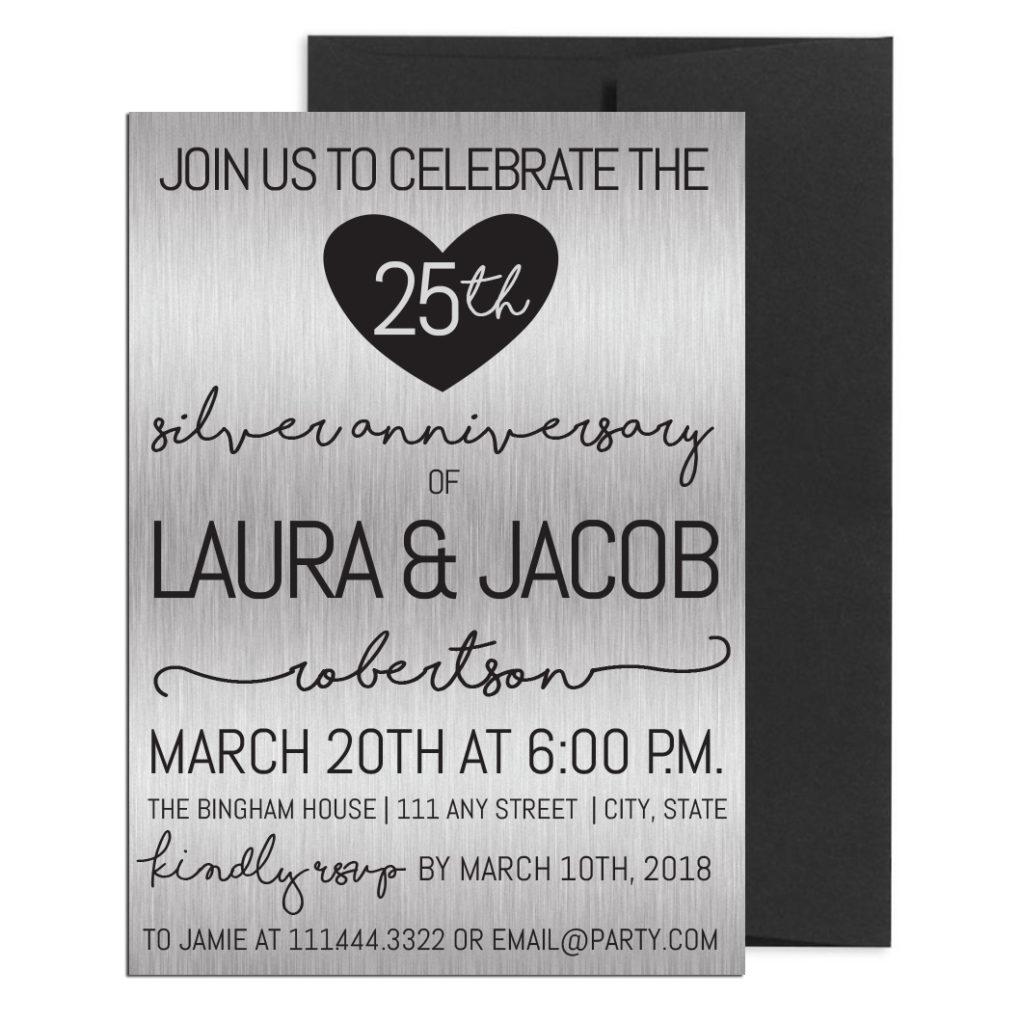 Twenty-Fifth Anniversary Party Invite
