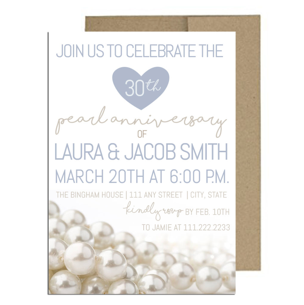 Thirtieth Anniversary Party Invite