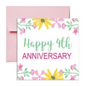 Fourth Anniversary Card