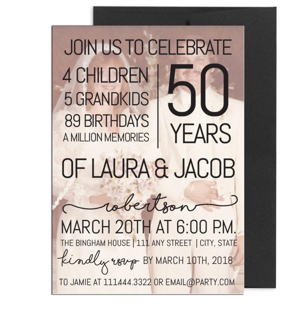 Fiftieth Anniversary Party Invite
