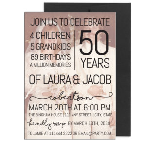 Fiftieth Anniversary Party Invite