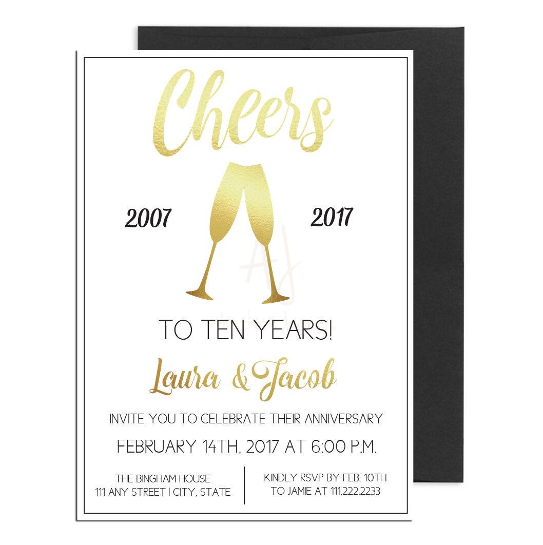 Gold Anniversary Invite