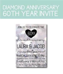 Diamond Anniversary 60th Party Invite