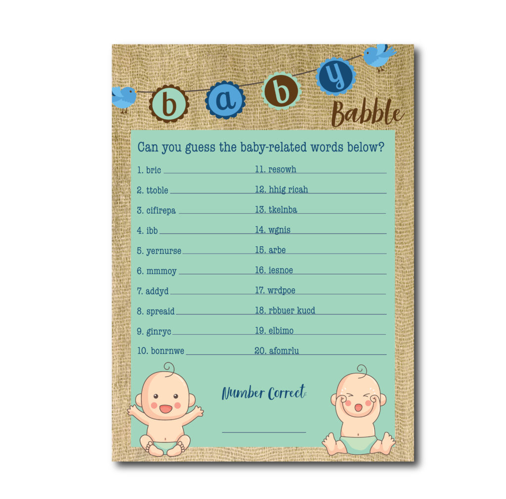 Baby Babble Shower Game