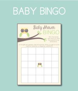 Pastel Baby BINGO Cards