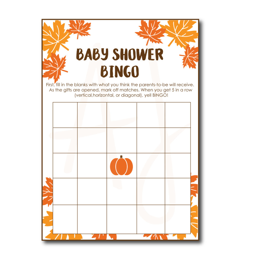 Fall Baby Shower BINGO