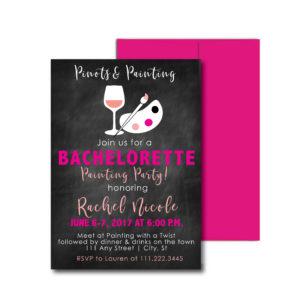 Painting Themed Bachelorette Invite