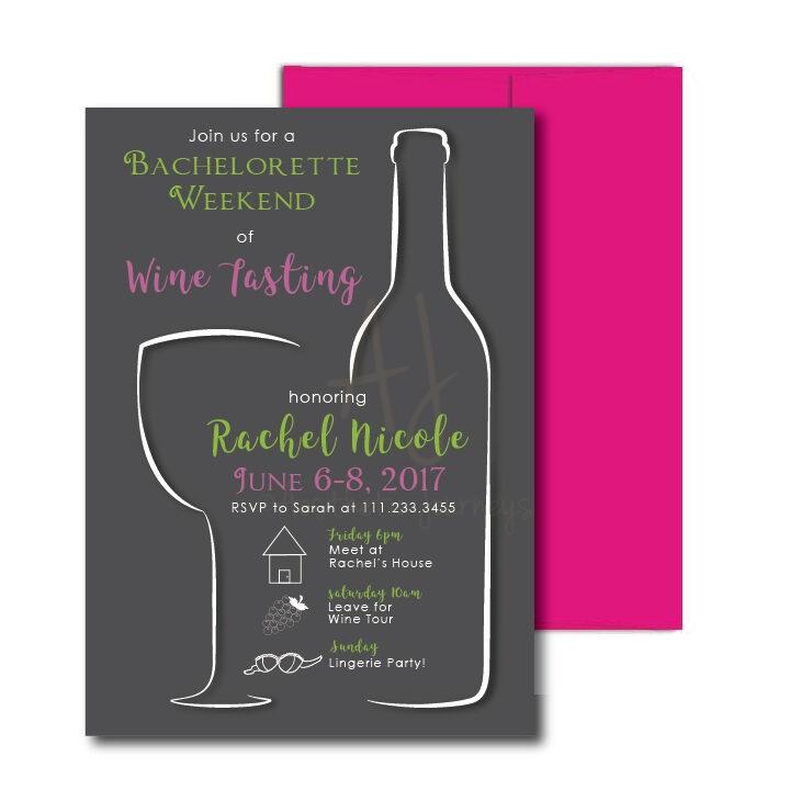 Wine Themed Bachelorette Invite