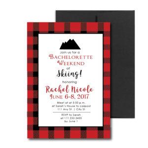 Ski Themed Bachelorette Invite